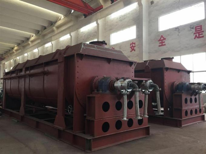 Hollow Rotary Paddle Dryer 55 - 110KW Environmental Frienddly Production