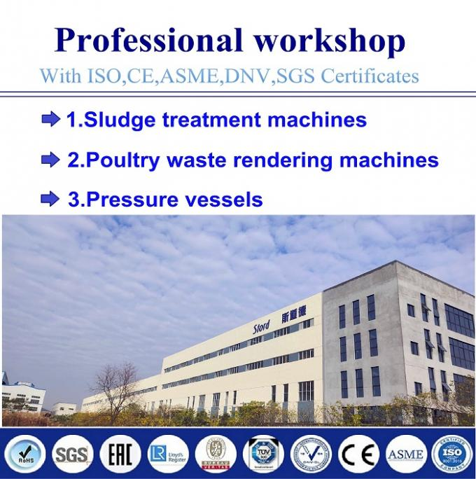 Carbon Steel Poultry Rendering Plant Chicken Rendering Batch Cooking And Drying Machine