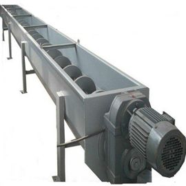 Rotation Sludge Screw Conveyor Stainless Steel Ceramic Industry Support